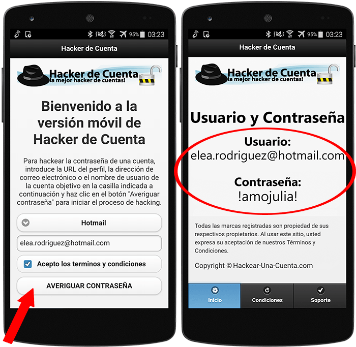 Hackear Hotmail en Android